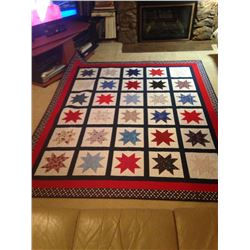 """Handmade Patriotic """"Red, White, and Blue"""" Quilt"""