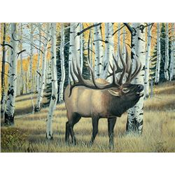 "16""x20"" Elk Wildlife Print – printed from an original oil painting by New Mexico artist Isaac Martin"