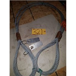 Set of Steel Sling 5/8'' 7800lbs 6'