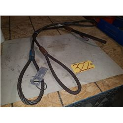 Set of Steel Sling 5/8'' 7800lbs 4'
