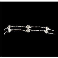 1.25 ctw Diamond Bracelet - 14KT White Gold