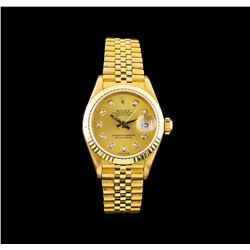 Rolex 18KT Yellow Gold DateJust Ladies Watch