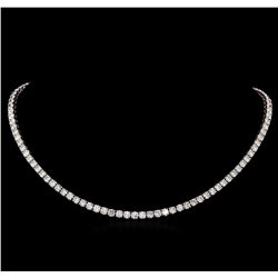 18KT White Gold 21.08 ctw Diamond Necklace