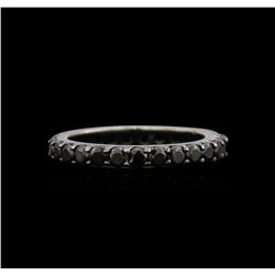 2.00 ctw Black Diamond Ring - 14KT White Gold