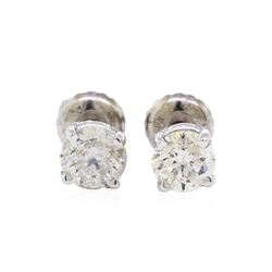 0.97 ctw Diamond Stud Earrings - 14KT White Gold