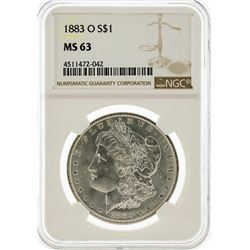 1883-O NGC MS63 Morgan Silver Dollar