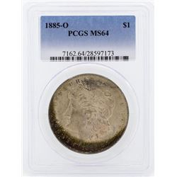 1885-O $1 Morgan Silver Dollar Coin PCGS MS64 Great Toning