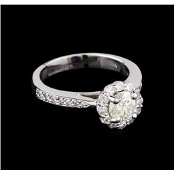 1.22 ctw Diamond Ring - 14KT White Gold