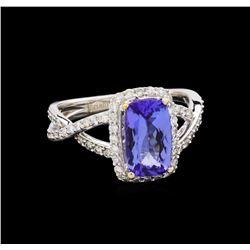 14KT White Gold 1.97 ctw Tanzanite and Diamond Ring