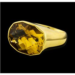 14.85 ctw Citrine Ring - 18KT Yellow Gold