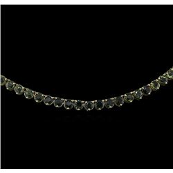 41.25 ctw Sapphire Necklace - 14KT Yellow Gold