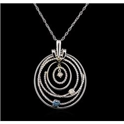 1.80 ctw Diamond Pendant With Chain - 14KT White Gold