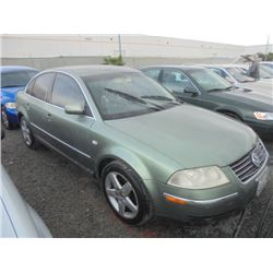 VW PASSAT 2002 T-DONATION
