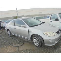 HONDA CIVIC 2005 SALV T/DONATION
