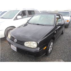 VW CABRIO 2002 APP  DUP/T-DON