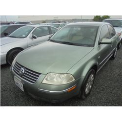 VW PASSAT 2001 APP  DUP/T-DON