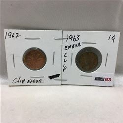 Canada One Cent (2) Clip Errors