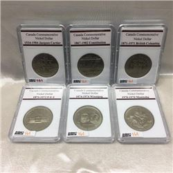 Canada Commemorative Nickel Dollars (6)