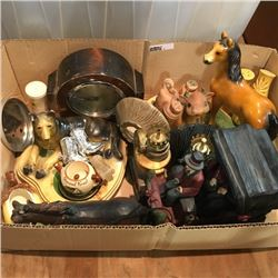 LOT4: Box Lot: Glassware/Collectibles