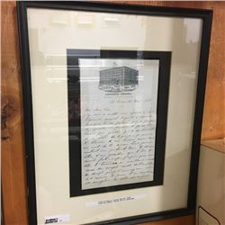 LOT11: Framed Letter