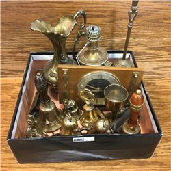 LOT32: Box Lot: Brass Theme (Bells, Clock, Lamp, etc!)