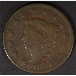 1827 LARGE CENT, VG+