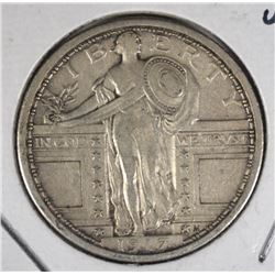 1917 TYPE-1 STANDING LIBERTY QUARTER, XF