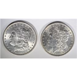 1889 & 1890 CHOICE BU MORGAN DOLLARS
