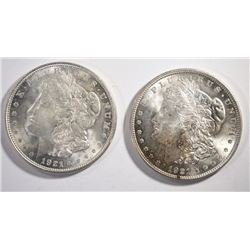 2 - 1921 MORGAN SILVER DOLLARS