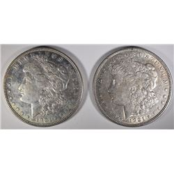 2-1921-D MORGAN DOLLARS, CHOICE BU