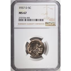 1937-D BUFFALO NICKEL NGC MS-67