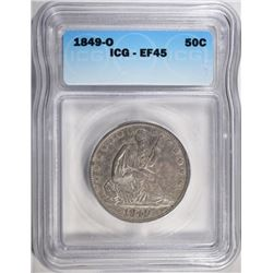 1849-O SEATED LIBERTY HALF ICG EF-45