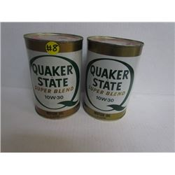 2 Quaker State Oil Cans