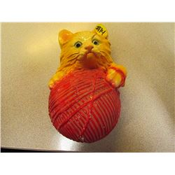 Cat Chalk Ware Yarn Wall  Holder