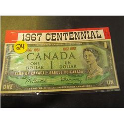 1965 Canadian $1.00 Banknote-Centennial Year Issue