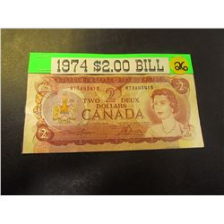 1974 Canadian $2.00 Banknote