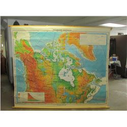7ft x 6ft Denoyer Greppart Wall Map (Very Large)