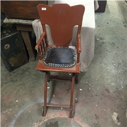 RARE High Chair-Folds to Stroller with Castwheels