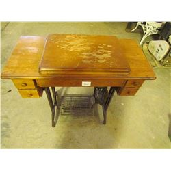 Treadle Sewing Machine 4 drawer-Maple