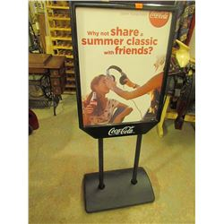 Coca Cola Display Stand 2 sided 59H-24W