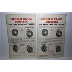 Pair original posters -Lidholm brake boosters for Ford cars and trucks