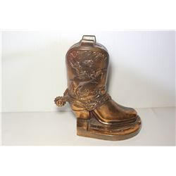 Roy Rogers metal boot shape bank