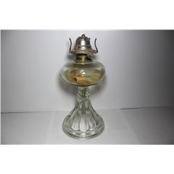 Clear coal oil lamp