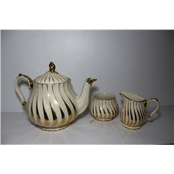 Sadler England Teapot, milk and sugar bowl, #14 2737