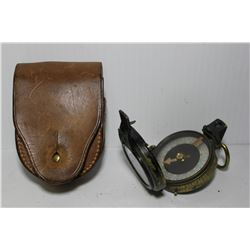 Compass (E Koehn 1917, Geneve Suisse) with leather case (Major W. Ashfield, 65th FD. BTY. RCA grenfe