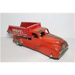 Marx red sand and gravel metal truck (one side sand other side gravel)