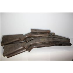 collection of 5 airgun plastic stocks