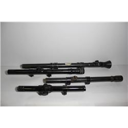 Collection of scopes ( Crossman 4x15, Mossberg no M4D 4 power, Higgins 4x and an unknown one)