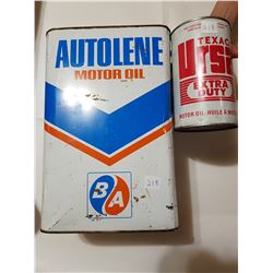 B/A Oil Tin and Texaco Tin