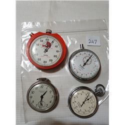 3 Timers and Pocket watch